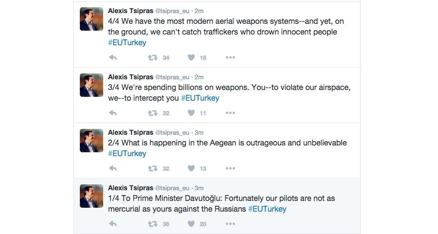 Les messages supprimés par Alexis Tsipras