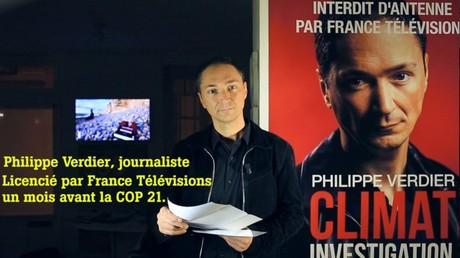 Capture d'écran de la vidéo d'annonce de licenciement de Philippe Verdier