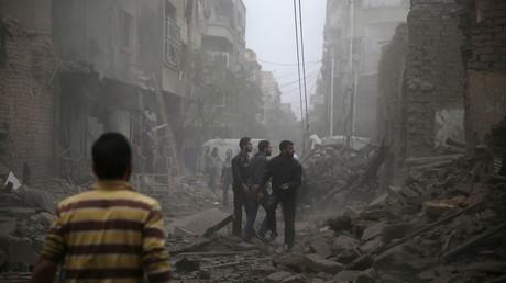 La ville de Douma est régulièrement la cible de bombardements