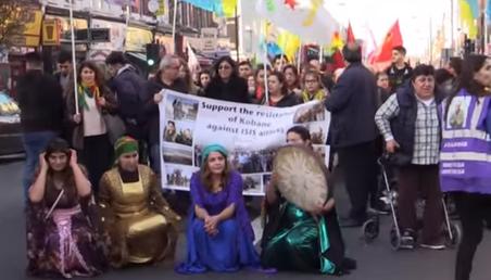 Des manifestations pro-kurdes se tiennent à Francfort et à Londres