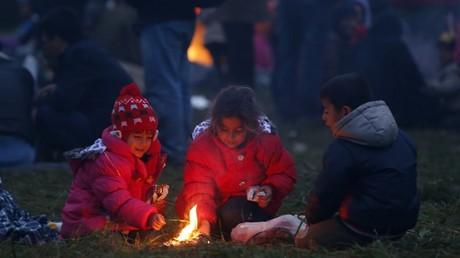 Des enfants syriens réfugiés en Slovénie