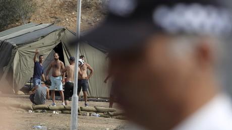 114 réfugiés sont actuellement sur la base anglaise de Dhekelia, à Chypre.