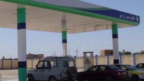 Des pompes à la station de gaz naturel construit par TFBSO