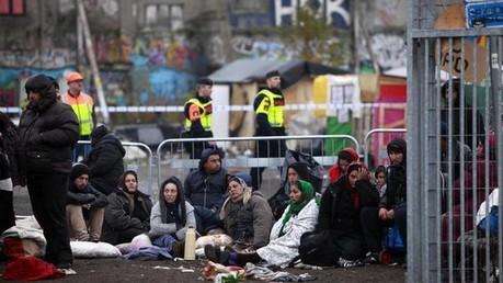 La police suédoise évacue le camp de Roms à Malmö