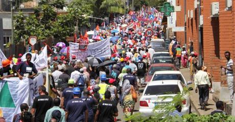 Manifestation à Mayotte