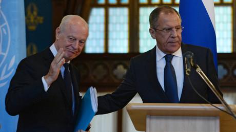 Sergueï Lavrov et Staffan de Mistura