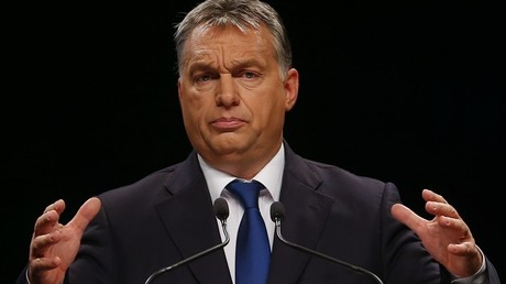Le Premier ministre hongrois Viktor Orbán lors de sa conférence à Budapest le 5 novembre 2015.