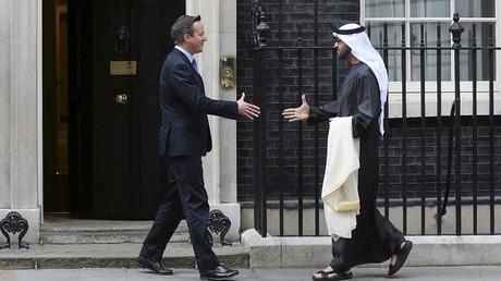 David Cameron et le prince d'Abu Dhabi