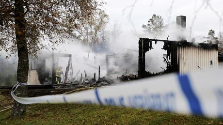 Un bâtiment destiné à accueillir des réfugiés incendié, le 27 octobre dernier en Suède