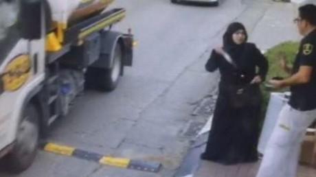 Capture d'écran de la vidéo surveillance montrant l'attaque