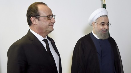 François Hollande et Hassan Rohani lors de leur rencontre à l'ONU
