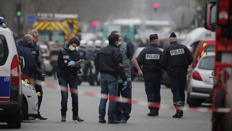 La police à Paris après l'attentat de Charlie Hebdo