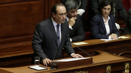 François Hollande devant le Parlement réuni en Congrès