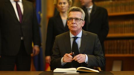 Thomas de Maizière présente ses condoléances à la France le 14 novembre dernier