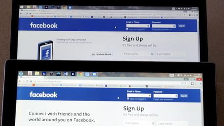 Page d'accueil du réseau social