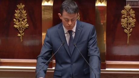 Manuel Valls s'adressant aux députés
