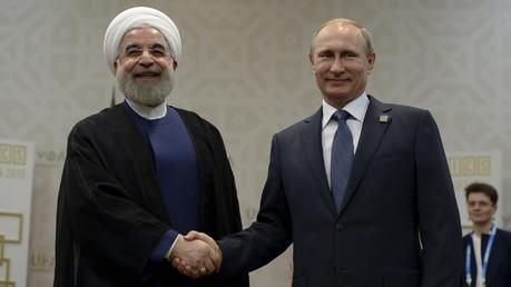Hassan Rohani et Vladimir Poutine