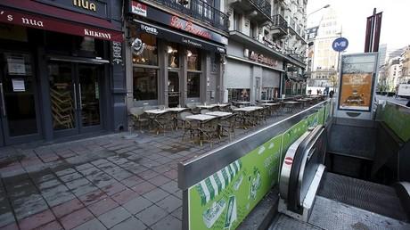 Les rues sont désertes dans la capitale belge.