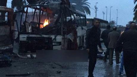 Photo de l'explosion (capture compte twitter)