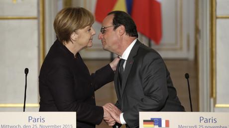 Angela Merkel et François Hollande à l'Elysée