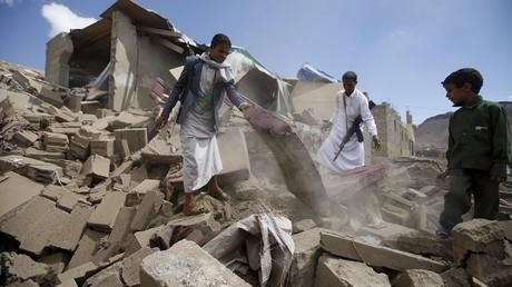 La ville de Sanaa, frappée par un bombardement de la coalition militaire saoudienne