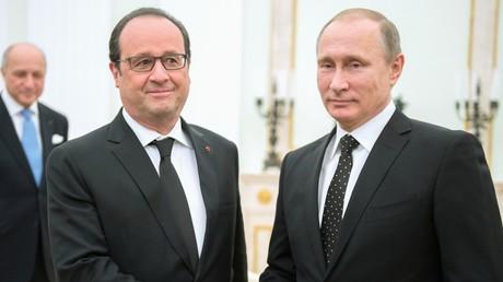 François Hollande et Vladimir Poutine