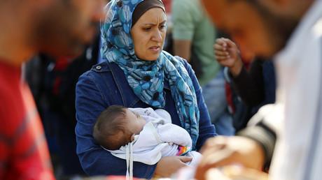 Une réfugiée musulmane