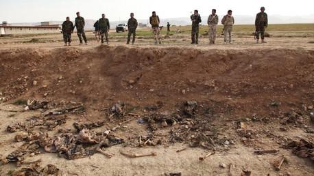 Une fosse commune trouvée près de Sinjar en février dernier