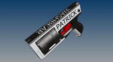 Capture d'écran de la présentation d'un prototype de revolver réalisable avec une imprimante 3D