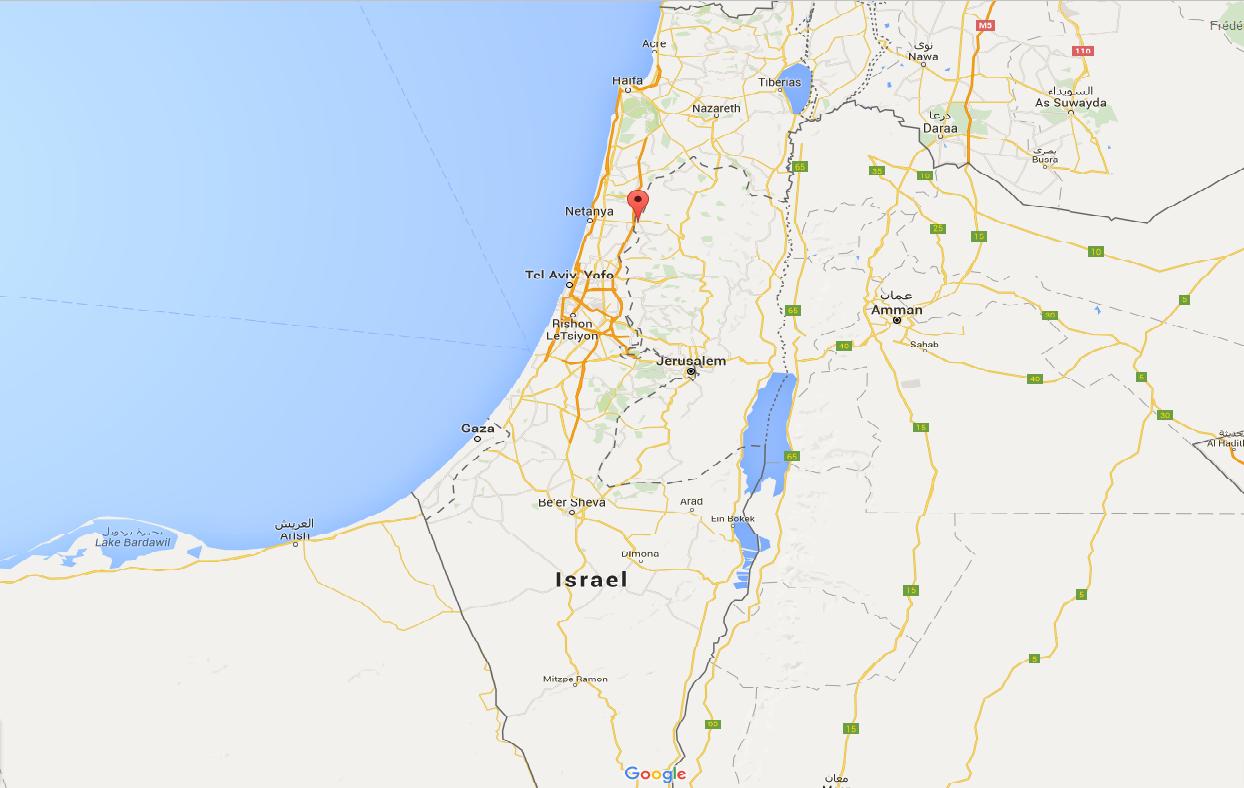 La ville de Tulkarem au nord-ouest de la Cisjordanie (Source: Google Map)