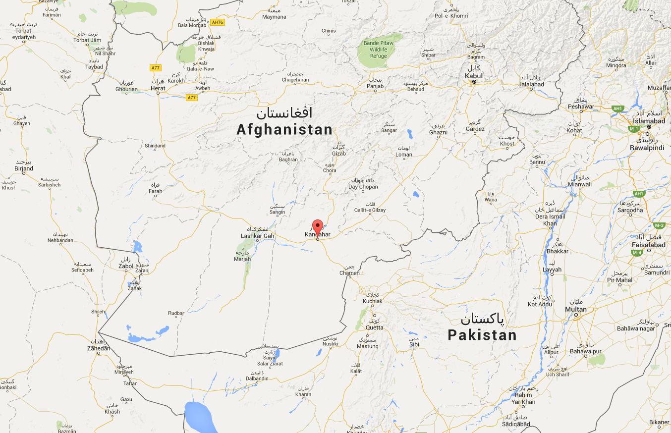 La ville de Kandahar, au sud du pays (Source : Google Map)