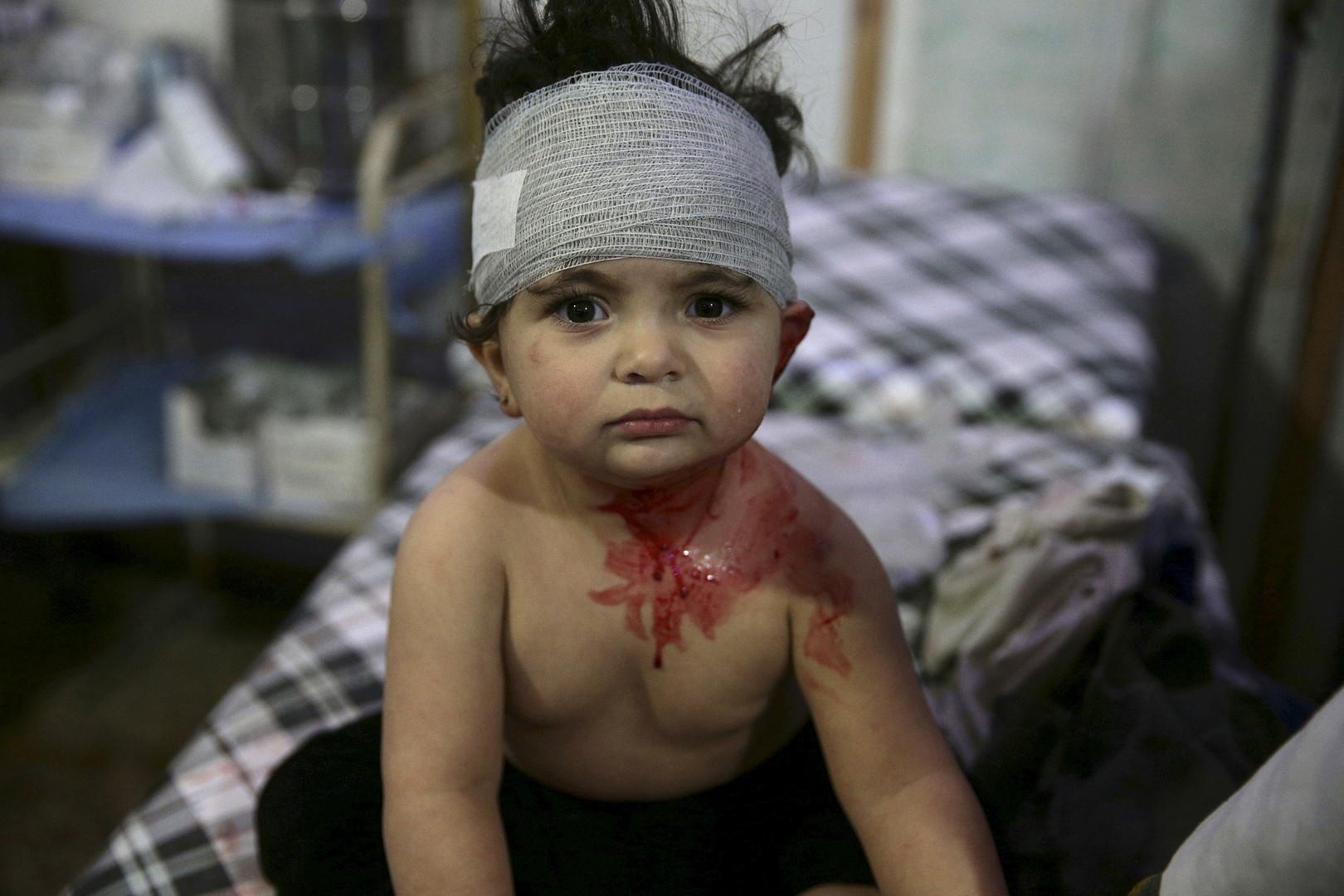 Un enfant blessé à Damas