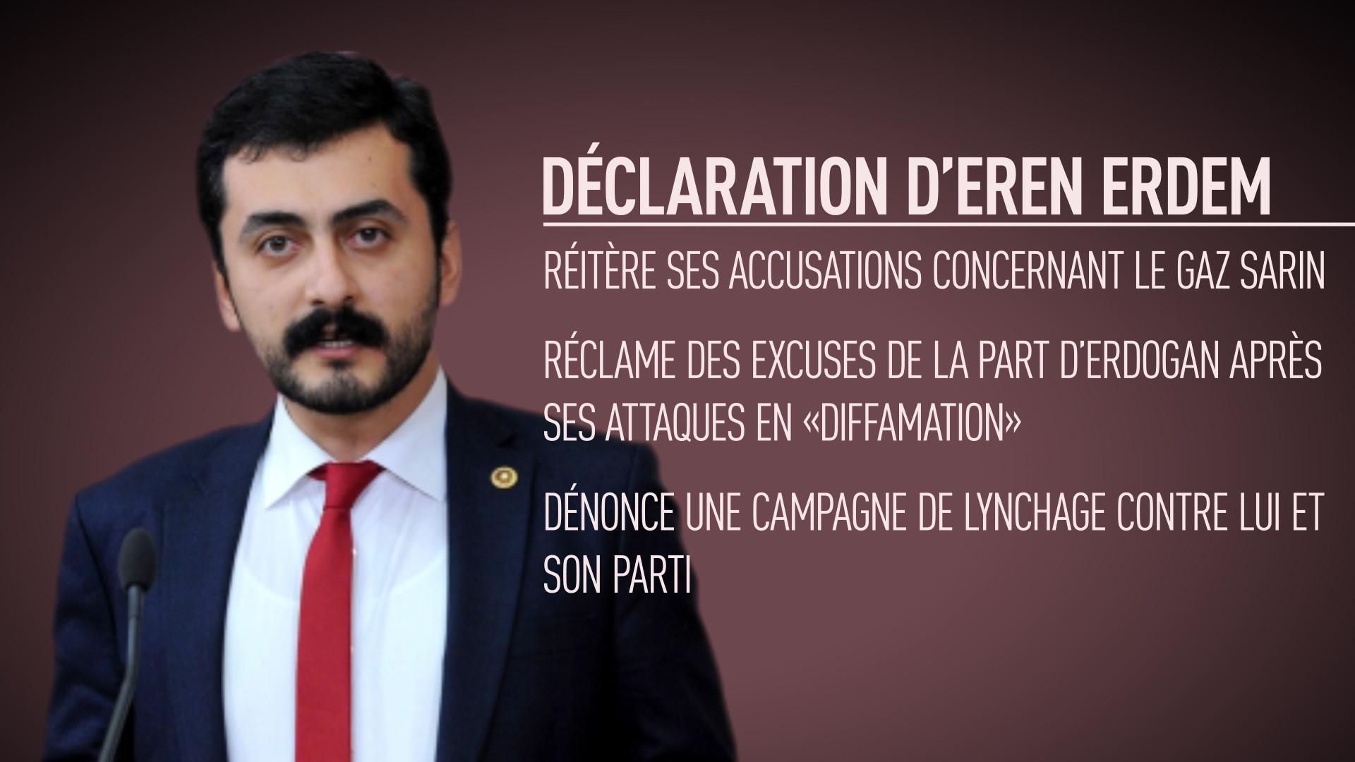 Le député turc poursuivi pour son interview à RT réclame des excuses à Erdogan