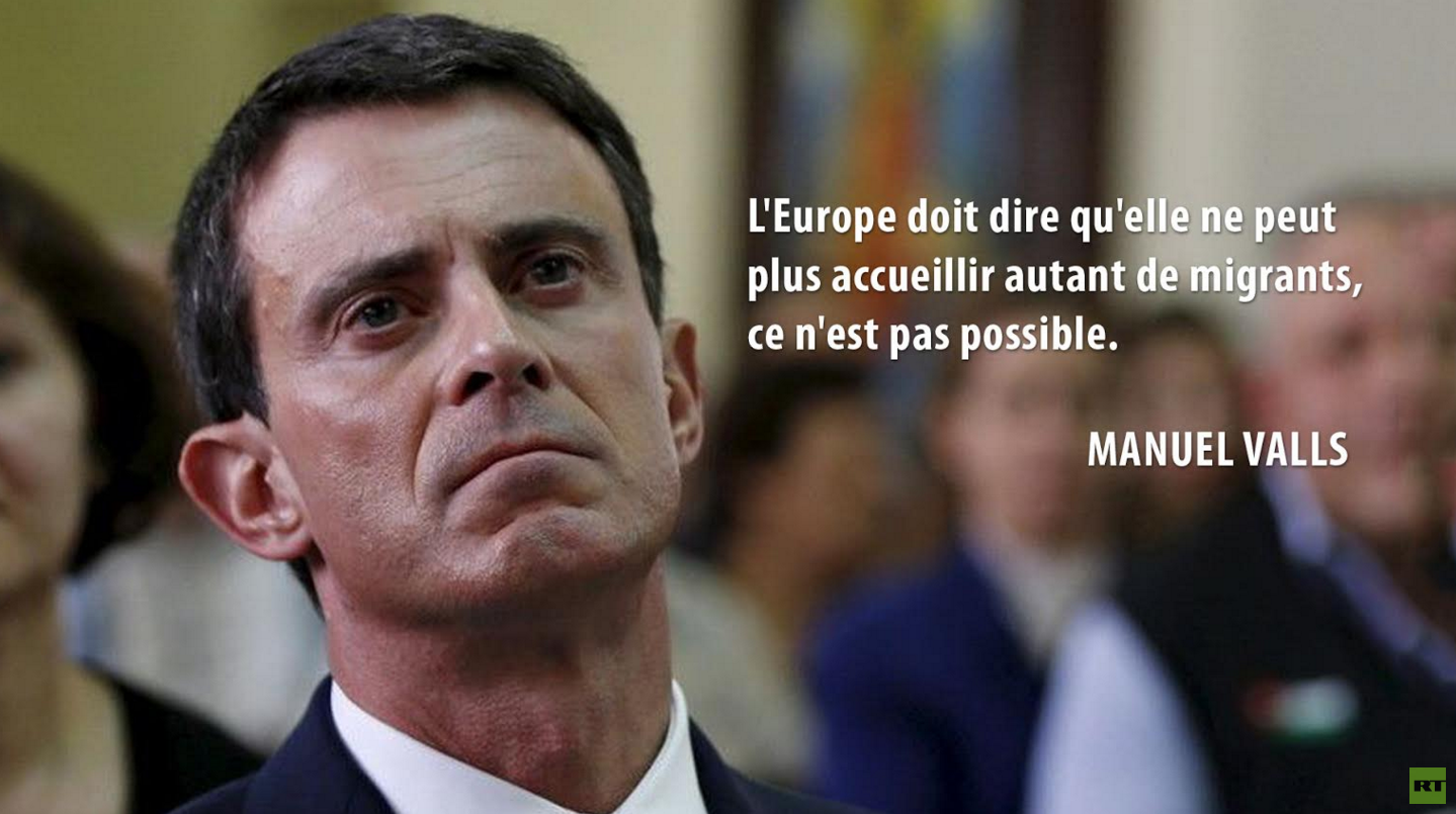 Manuel Valls change d'avis sur la politique migratoire.