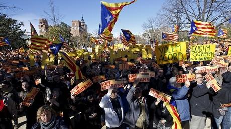 Une manifestation en faveur de l'indépendance de la Catalogne