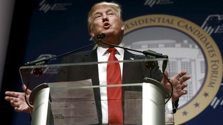 Donald Trump devant la Coalition juive républicaine le 3 décembre
