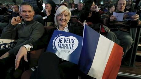Des supporteurs au rassemblement du Front National à Lille