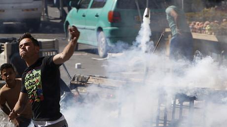 Heurts entre manifestants et forces israéliennes à Hébron le 23 septembre 2015
