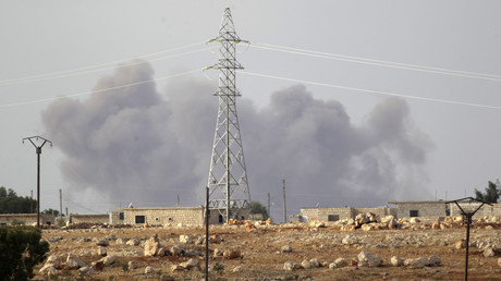 Bombardement dans la province d'Idlib en Syrie le 2 octobre 2015