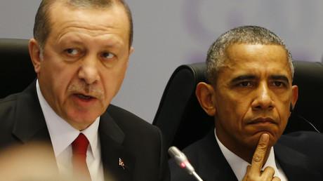 Le président turc Tayyip Erdogan et son homologue américain Barack Obama