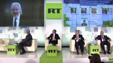 Julian Assange s'est exprimé lors d'une conférence internationale sur les médias organisée en l'honneur des 10 ans du réseau RT.