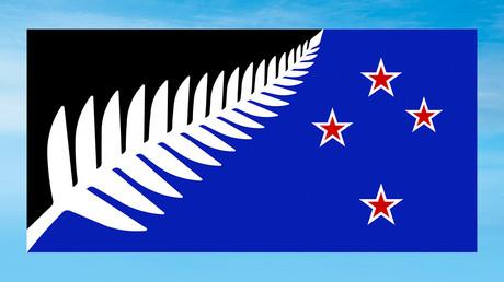 Drapeau provisoire de la Nouvelle-Zélande.
