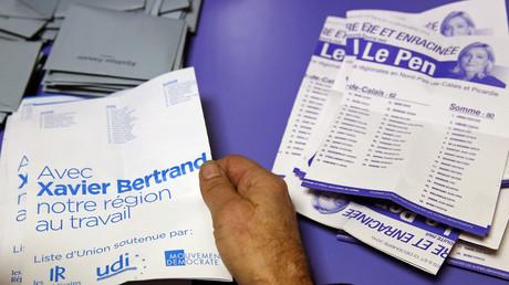 Le décompte des bulletins dans la région Nord-Pas-de-Calais-Picardie