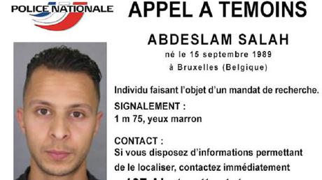 Appel à témoin Salah Abdeslam