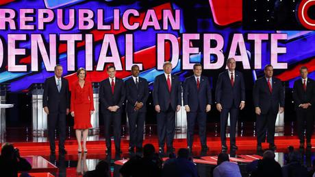 Les candidats républicains avant le débat télévisé