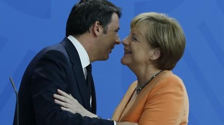 Matteo Renzi et Angela Merkel