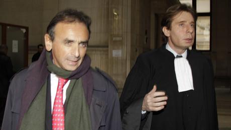 Eric Zemmour et son avocat Maître Olivier Pardo à la Cour de Paris