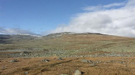 Le mont Halti, vu depuis la frontière avec la Finlande