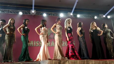 Les participantes au coucours Miss Irak