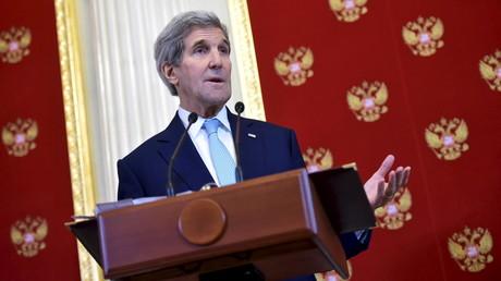 John Kerry lors d'une conférence de presse à Moscou